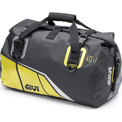 Bolsa impermeável Givi 40L - modelo novo Preta com Amarelo
