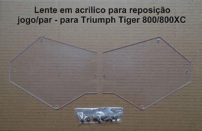 Lente em Acrílico para Reposição em Protetor de Farol - Tiger 800