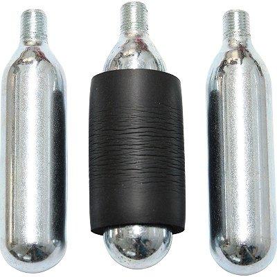 Kit reposição com 3 ampolas de CO2 - para reparo de pneus sem câmara
