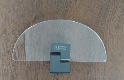 Defletor Universal PQ 19cm para bolha / parabrisa - acrílico