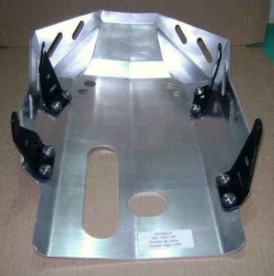 Protetor de Cárter para Tiger Explorer 1200 - Aluminio Escovado