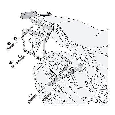 Suporte Lateral de Baús GIVI - V35 - para Honda CB 500X apartir de 2020