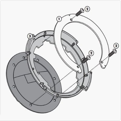 Flange de encaixe e fixação de Bolsas Givi TankLock - para HONDA CB 500X e 650