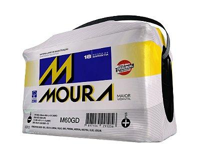 Bateria 60 amperes Moura (Em até 6x s/juros) (A base de troca)