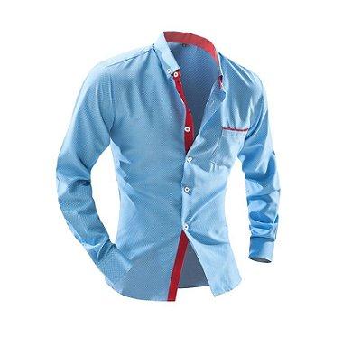 Camisa Social Masculina slim Chemise