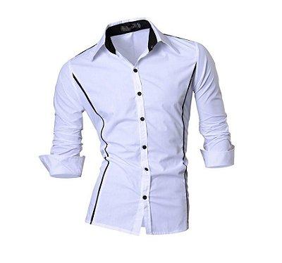 Camisa Masculina Social slim Luxury