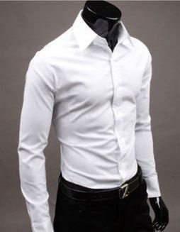 Camisa Social Masculina New Mens Slim Fit