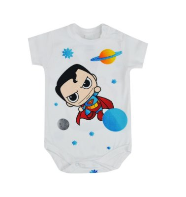 Body Manga Curta Superman - GET BABY