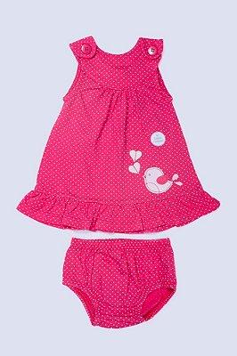Vestido Pink Passarinho - PIU PIU