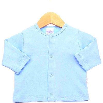 Casaquinho Suedine Azul Bebê - PIU PIU