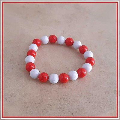 Pulseira Vermelha e Branca