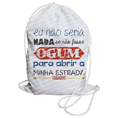Mochilinha para Guias / Colares / Fios de Contas - Se Não Fosse Ogum...