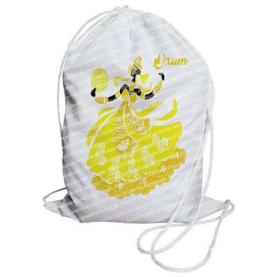 Mochilinha para Guias / Colares / Fios de Contas - Ora iêiê Amarela