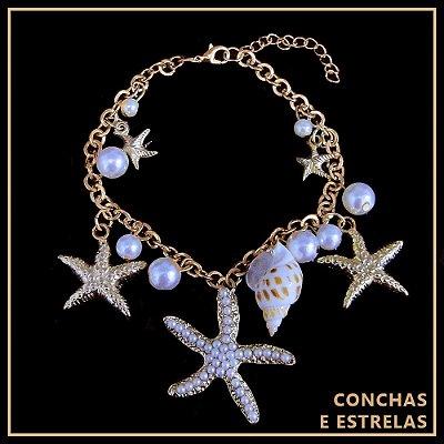 Pulseira Conchas e Estrelas