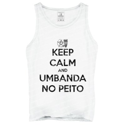 Regata Keep Calm and Umbanda No Peito