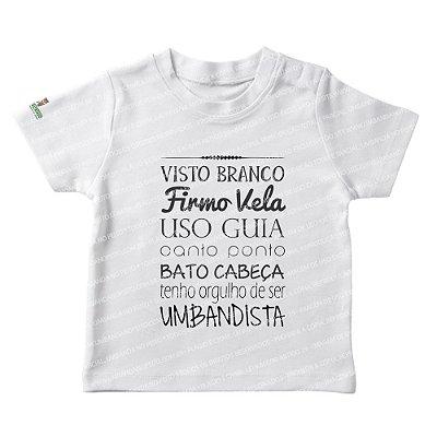 Camiseta Infantil Visto Branco