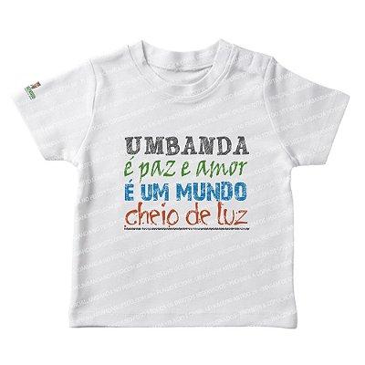 Camiseta Infantil é Paz, é Amor