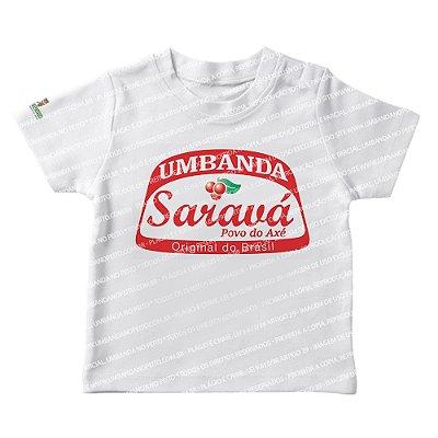 Camiseta Infantil Umbanda Saravá