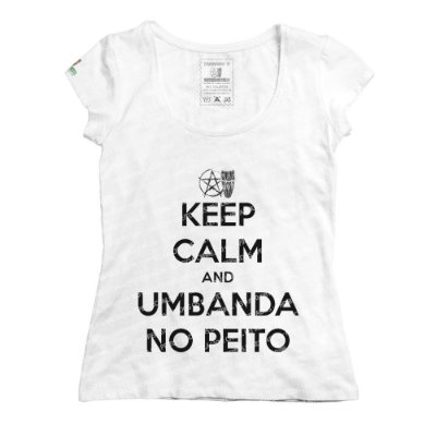 Baby Look Keep Calm and Umbanda No Peito