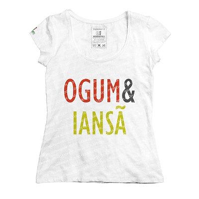 Baby Look Coleção Pai & Mãe: Ogum & Iansã