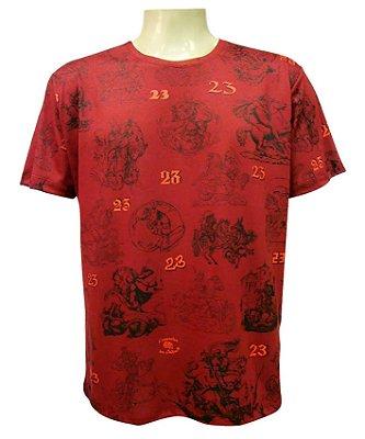 Camiseta Vermelha São Jorge Dia 23 Viscose