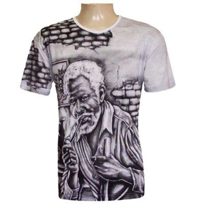Camiseta Preto-Velho Viscose