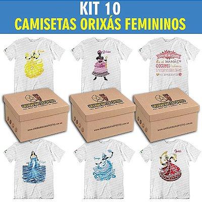 Kit com 10 Camisetas Orixás Femininos