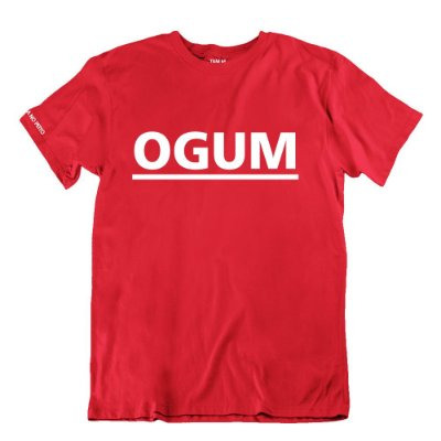 Camiseta Vermelha Ogum + Verso Ogunhê
