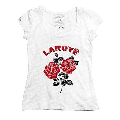 Baby Look Rosas Laroyê