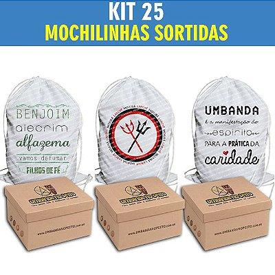 Kit com 25 Mochilinhas Sortidas