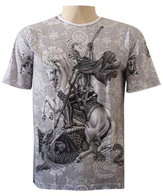 Camiseta São Jorge Oração Viscose