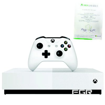 Console Xbox One S de 1TB Microsoft 1681 All Digital Edition Bivolt - Branca