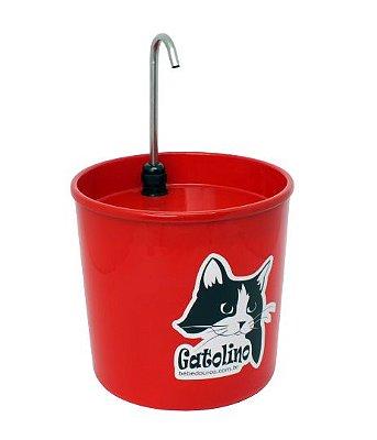 Bebedouro Colors Gatolino Vermelho