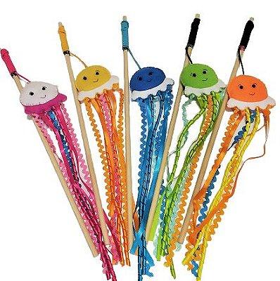 Brinquedo Interativo Varinhas com Catnip - Jelly Fish