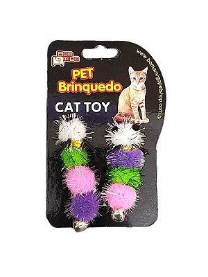 Brinquedo para gato Centopéia com Guizo - kit com 2