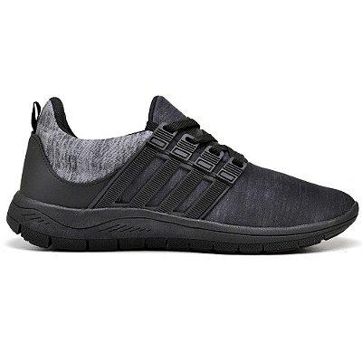 Tênis Caminhada ConfortávelAll Black 15003