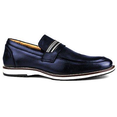 Sapato Masculino Brogue Derby Comfort Marinho 8000