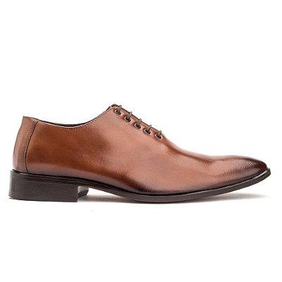 Sapato Social Masculino Oxford Couro Cromo Whisky 2001