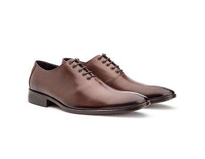 Sapato Social Masculino Oxford Couro Cromo Mouro 2001