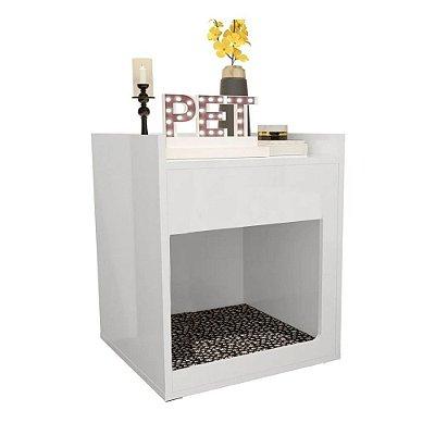 Mesa de Cabeceira/Cama Pet Trovarelli Branco