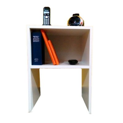 Mesa de Cabeceira Simples Trovarelli Branco