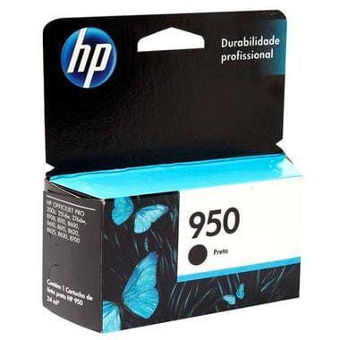 Cartucho de Tinta Original HP 950 Preto CN049AB, uso nas HP OfficeJet Pro 200z / 251dw / 276dw / 8100 / 8110 / 8600 / 8610 / 8615 / 8620 / 8625 / 8630/ 8700 . Rendimento até 1.000 páginas. Cartucho Original com excelente qualidade.
