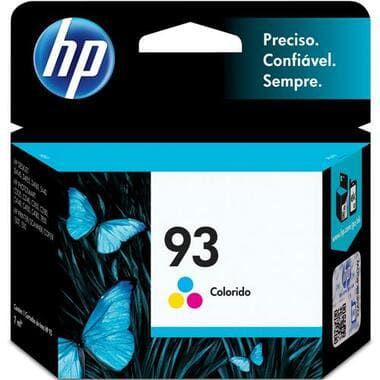 Cartucho de Tinta Original HP 93 Color C9361WB, uso nas HP PSC 1507/1510 / HP Photosmart C3140/C3150/C3180 / C4140/C4150/C4180 / HP Deskjet D4145/D4155/D4160 / 5440. Rendimento até 220 páginas. Cartucho Original com excelente qualidade.
