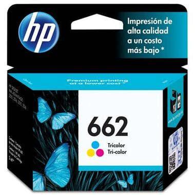 Cartucho de Tinta Original HP 662 Color CZ104AB, uso nas Multifuncional HP Deskjet Ink Advantage 2516 / 3516 / 3546 / 2546 / 1516 / 4646 / 2646. Rendimento até 120 páginas. Cartucho Original com excelente qualidade.