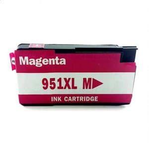 Cartucho de tinta Compatível 951XL Magenta CN051AB / CN047AB, uso nas impressoras HP OfficeJet Pro 200z / 251dw / 276dw / 8100 / 8110 / 8600 / 8610 / 8615 / 8620 / 8625 / 8630/ 8700. Quantidade 73 ML. Cartucho Compatível com excelente qualidade.