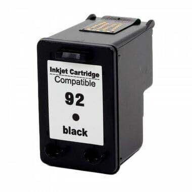 Cartucho de tinta Compatível 92XL Preto C9362WB, uso nas impressoras HP Deskjet 5440, Officejet 6310, Photosmart C3140 / C3150 / c3180 / 7850 / PSC 1057 / 1510. Quantidade 9 ML. Cartucho Compatível com excelente qualidade.