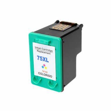 Cartucho de tinta Compatível 75XL Color CB337WB / CB338WL, uso nas impressoras HP Deskjet D4360 / HP Photosmart C4424 All-in-One Printer / C4480 / HP Photosmart C4440 All-in-One Printer. Quantidade 15 ML. Cartucho Compatível com excelente qualidade.