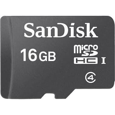 Cartão de Memória Sandisk C4-16GB+Adap MicroSDHC