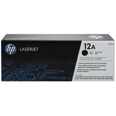 Toner HP Original Q2612A / 12A para Impressora HP Laserjet 1018 Printer /M1319f MFP. Rendimento até 2.000 páginas.