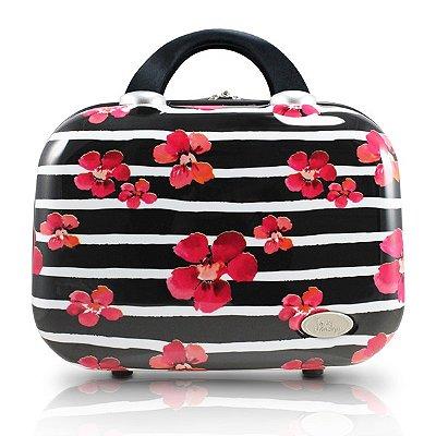 Frasqueira Floral Policarbonato+ABS Jacki Design Bossanova Preto